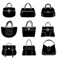 fashion bags icons vector image