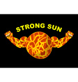 Strong sun Planet bodybuilder with big muscles vector image