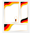 Germany flag banners set vector image