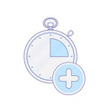 add alarm clock hour minute time timer icon vector image vector image