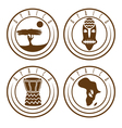 african ethnic culture music and nature labels set