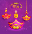banner for happy diwali vector image vector image