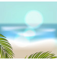 banner for summer beach vacation vector image vector image