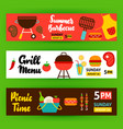 barbecue horizontal banners vector image