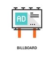 billboard icon concept vector image vector image