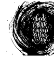 black and white hand lettering alphabet design on vector image