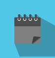 blank calendar icon in modern flat style vector image vector image