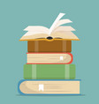 book stacks in flat design vector image vector image