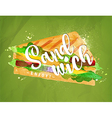 Burger sandwich green vector image vector image