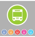 Bus icon flat web sign symbol logo label vector image vector image