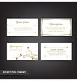 Business Card template set 041 Vintage Clear and vector image vector image