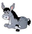 cartoon lying donkey vector image