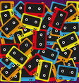 cassette background vector image vector image