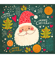 christmas with funny santa claus vector image vector image