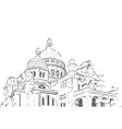 church hand drawn sketch vector image