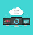 cloud computing technology vector image