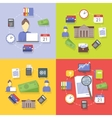 collection of flat and colorful business vector image vector image