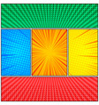 comic colorful abstract composition vector image vector image