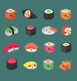 cute and fun japanese sushi cartoon vector image vector image