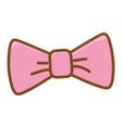 cute hair bow ornament vector image