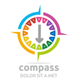 design icon compass direction place abstract vector image vector image