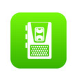 dictaphone icon digital green vector image