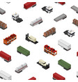 different types trailers seamless pattern vector image vector image