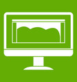 drawing monitor icon green vector image vector image