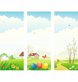 Easter and spring vertical banners vector image
