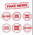 fake news collection grunge retro vintage vector image