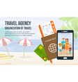 family vacation on beach vector image vector image