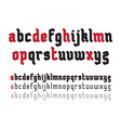 Fat Rounded Line Gothic Font vector image