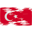 Flag of Turkey with old texture vector image