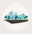 Flat design nature landscape