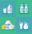fresh organic milk concept background vector image vector image