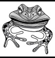 frog animal head symbol for mascot or emblem