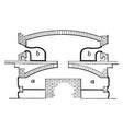 glass furnace vintage vector image vector image