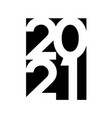 happy new year 2021 text design logo vector image