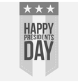 Happy Presidents Day Label with Text vector image vector image