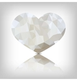heart of triangles vector image vector image