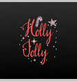 holly jolly festive banner on a white background vector image vector image