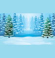 horizontal seamless background with winter vector image vector image