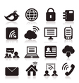 Icon communication vector image vector image