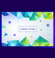 landing page concept geometric abstract vector image