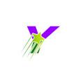 letter y logo icon design symbol vector image