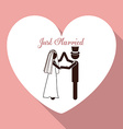 Married design vector image