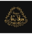 New Year Golden Lettering Design Typographic vector image vector image