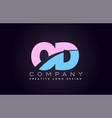 od alphabet letter join joined letter logo design vector image vector image