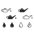 Oil icon set vector image