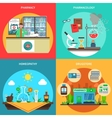 Pharmacy Concept Set vector image vector image